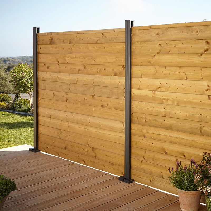 Feather Edge Fence Panel W 1 83m H 1 8m Pack Of 3 Departments Diy At B Q