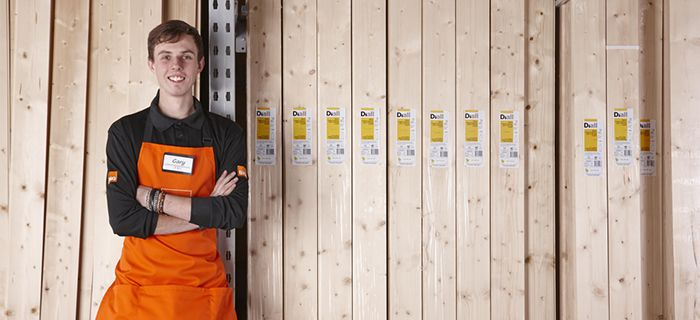 B&Q staff and timber supplies