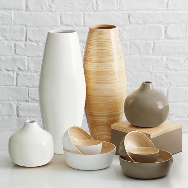 Bottles vases jars