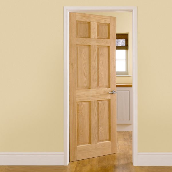Internal doors doors Solid wood six panel interior doors