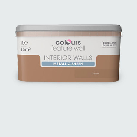 Image of colours paint for feature walls
