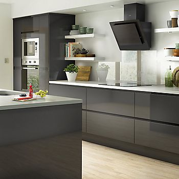 Marletti Anthracite fitted kitchen roomset