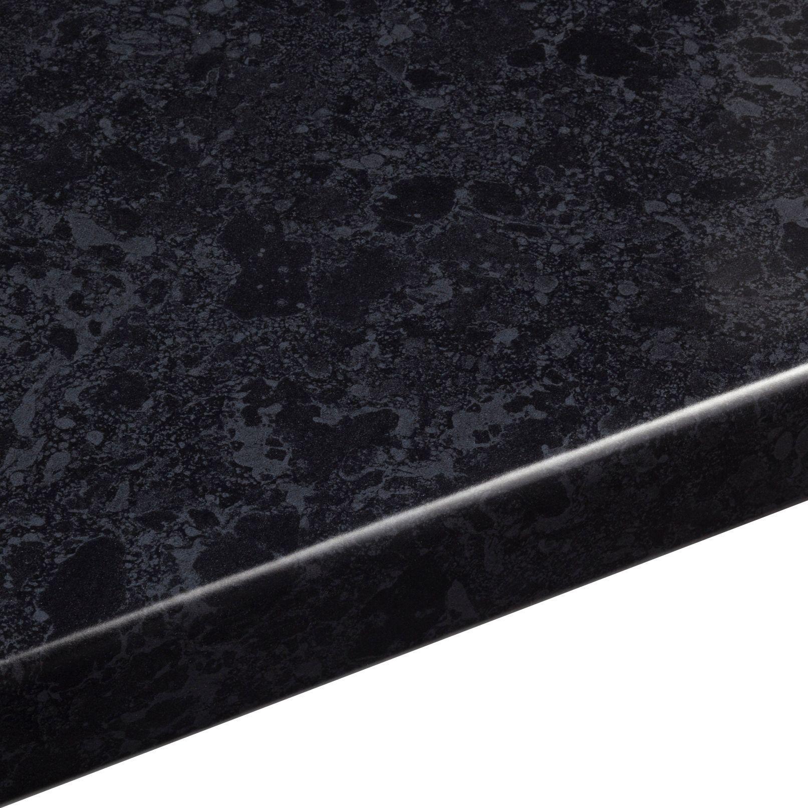 38mm B Amp Q Midnight Granite Gloss Black Gloss Granite Effect