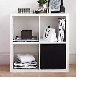 Mixxit storage cube black and white storage
