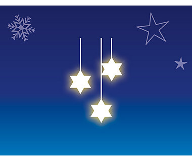 Illustration of star-shaped Christmas lights