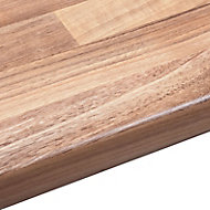 38mm Oak woodmix Wood effect Round edge Laminate Worktop (L)3m (D)600mm