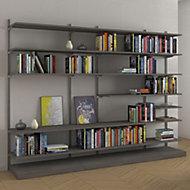 Form Oppen Grey Oak effect Large feature wall storage kit