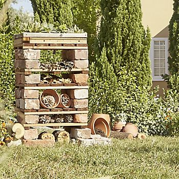 A bug hotel for insects