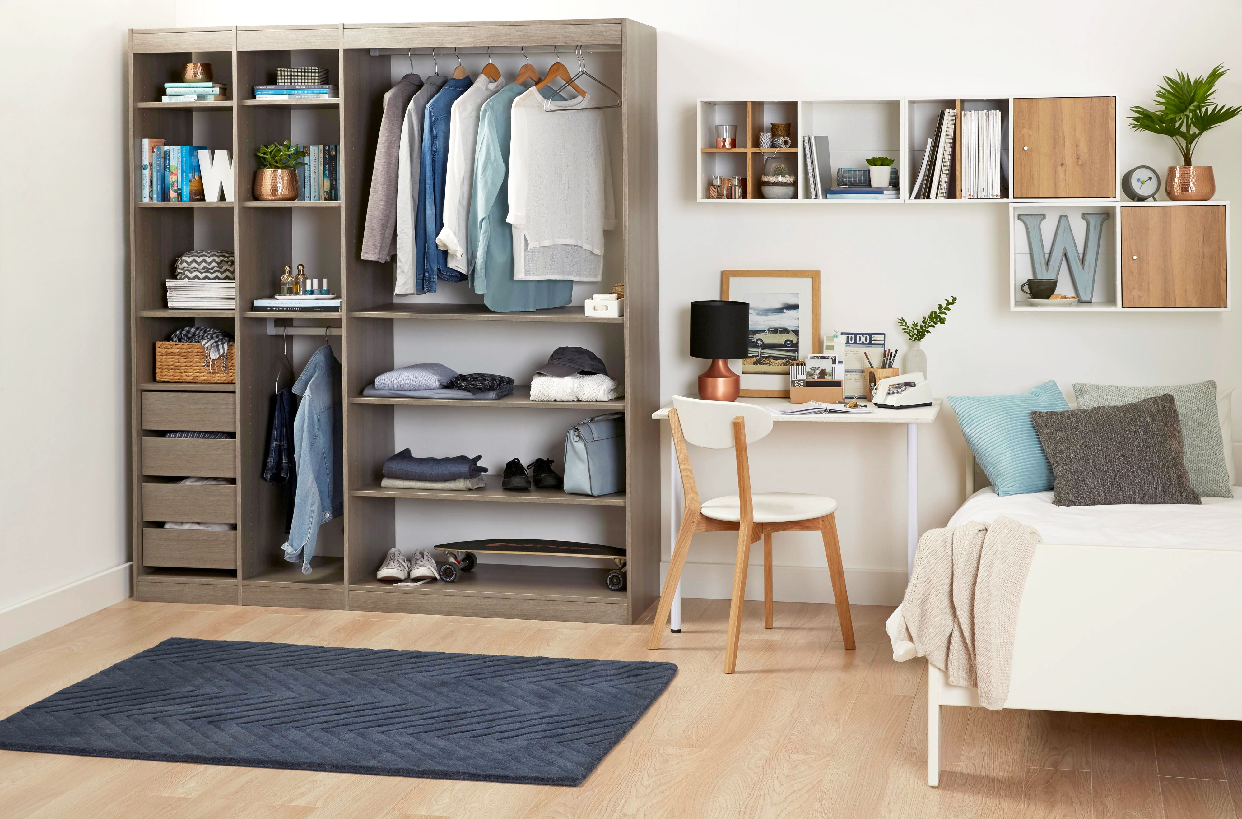 Perkin grey oak Wardrobe