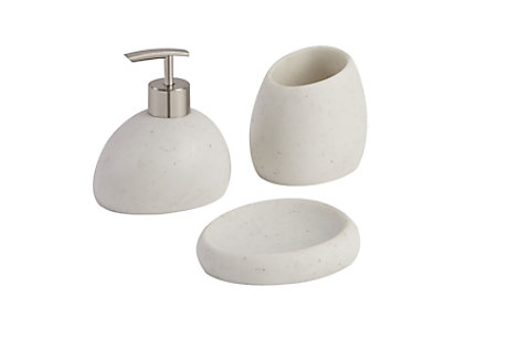 Padma White Bathroom Accessories