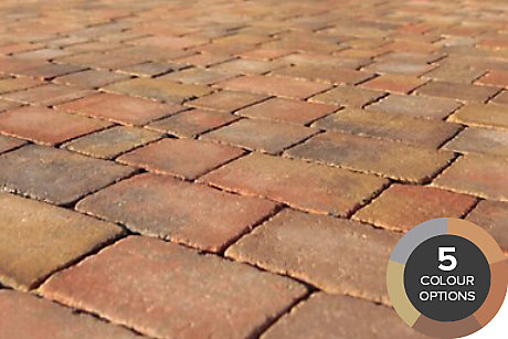 image of woburn rumbled block paving
