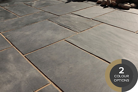 image of natural slate paving
