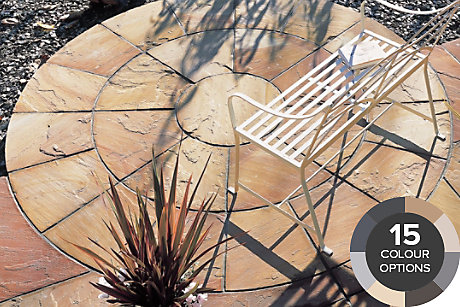 image of natural sandstone paving