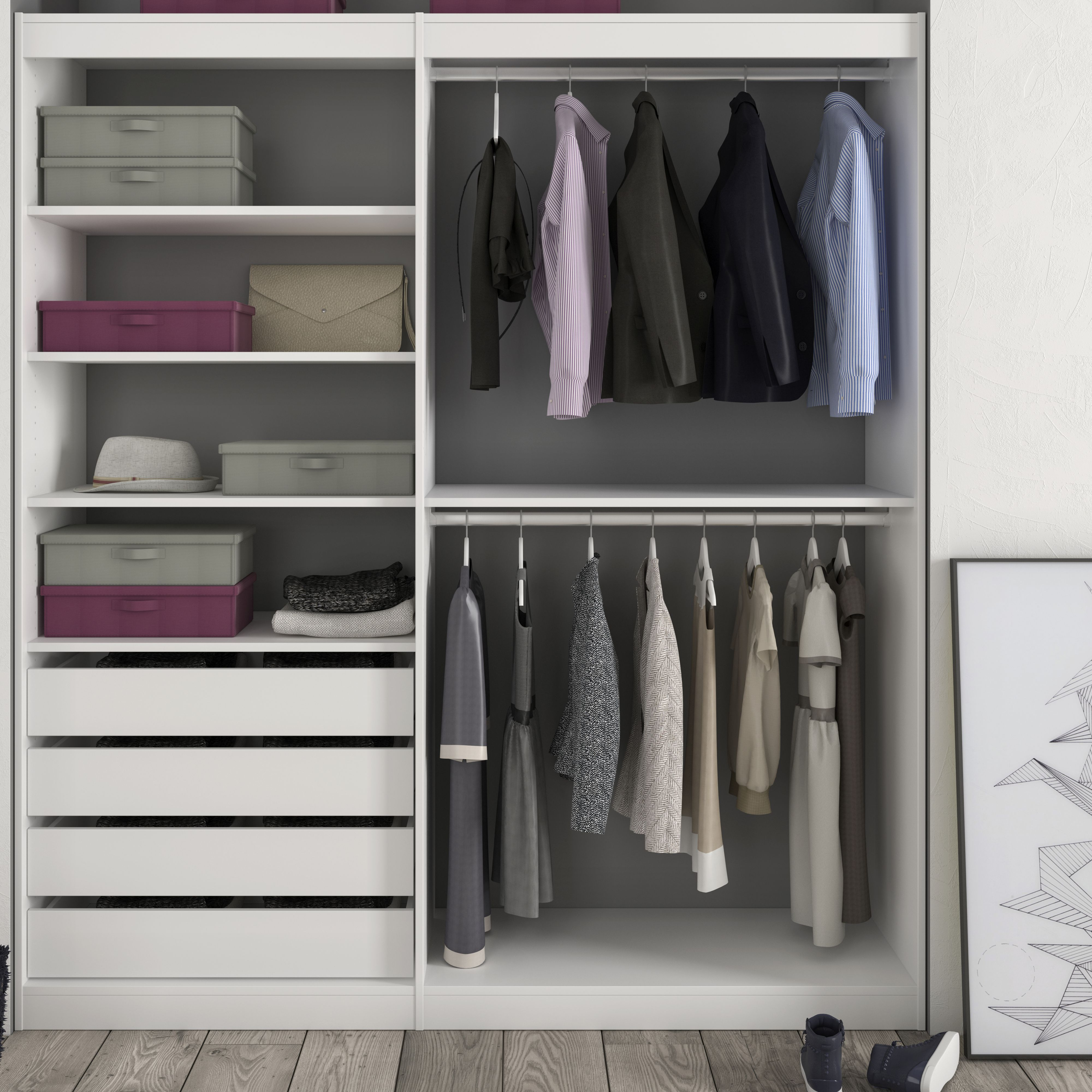 Form Perkin White Medium Hanging Storage Kit H 2000mm W