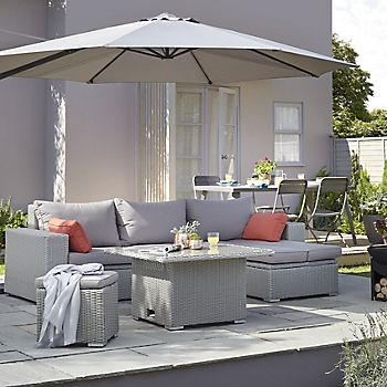 Gabbs rattan-effect outdoor sofa and table