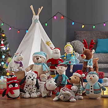 Selection of Christmas soft toys and animations