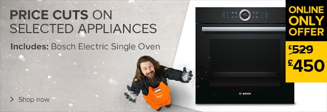 Price cuts on selected appliances