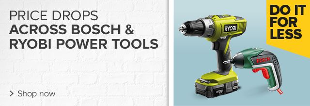 Price drops on Bosch & Ryobi power tools