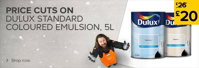 Was £26 Now £20 on Dulux standard coloured emulsion 5L