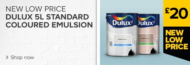 New low price on Dulux standard coloured emulsion 5L