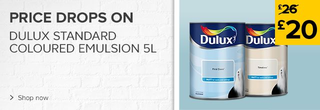Price drops on Dulux standard coloured emulsion 2.5L