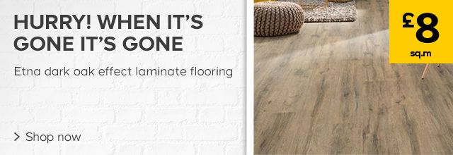 Etna dark oak effect laminate flooring £8 per square metre