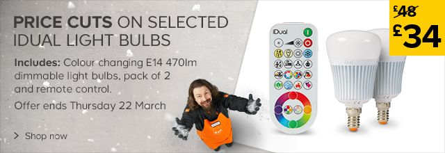 Price cuts on selected Idual Light Bulbs