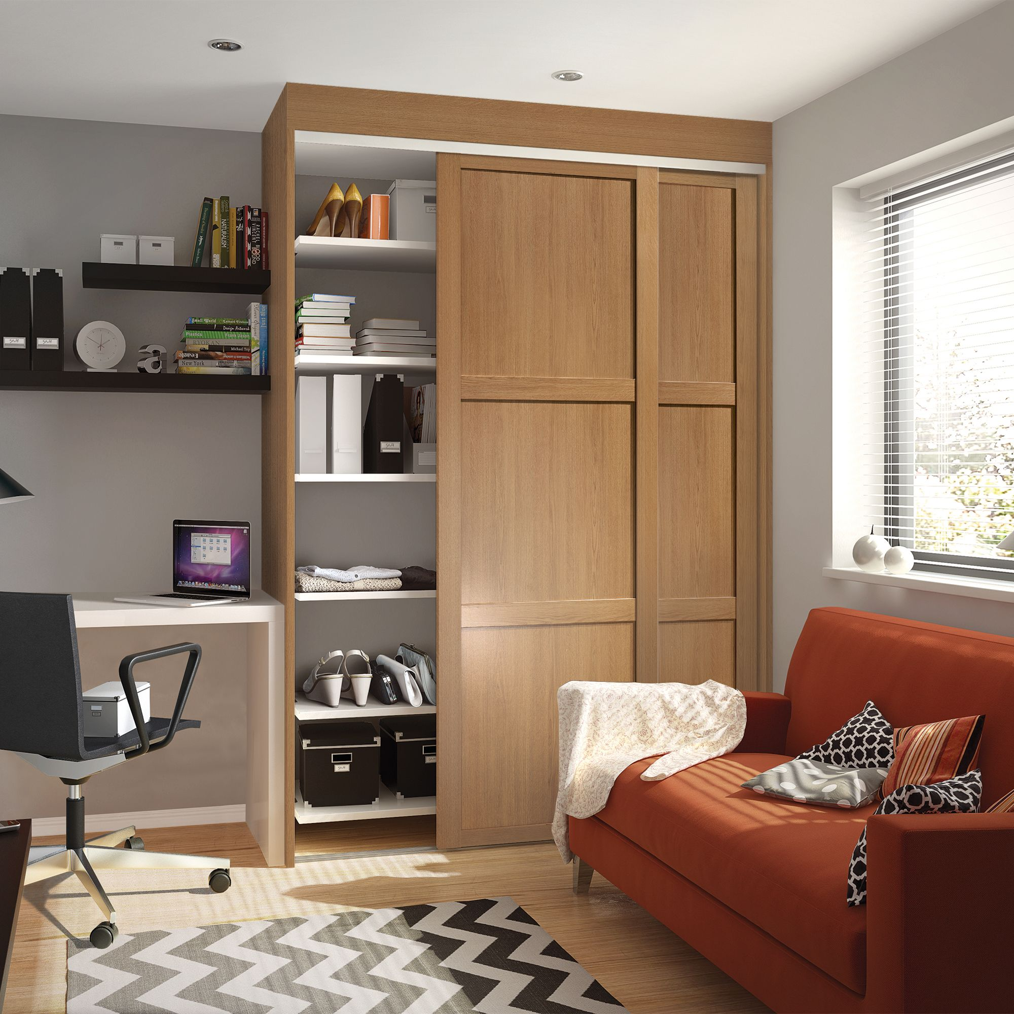 Shaker Single Doors & Sliding Wardrobe Doors \u0026 Kits | Bedroom Furniture | DIY at B\u0026Q