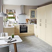 IT Kitchens Sandford Maple Effect Modern Fridge freezer door (W)600mm