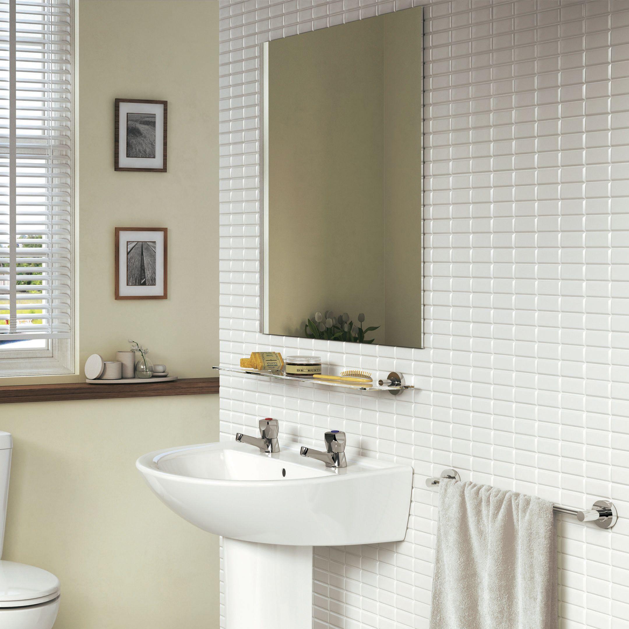How to put up a bathroom mirror | Ideas & Advice | DIY at B&Q