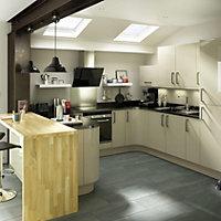 IT Kitchens Santini Gloss Grey Slab Oven filler panel (W)600mm