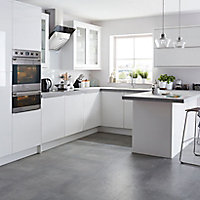 IT Kitchens Santini Gloss White Slab Deep wall end replacement panel 335 mm