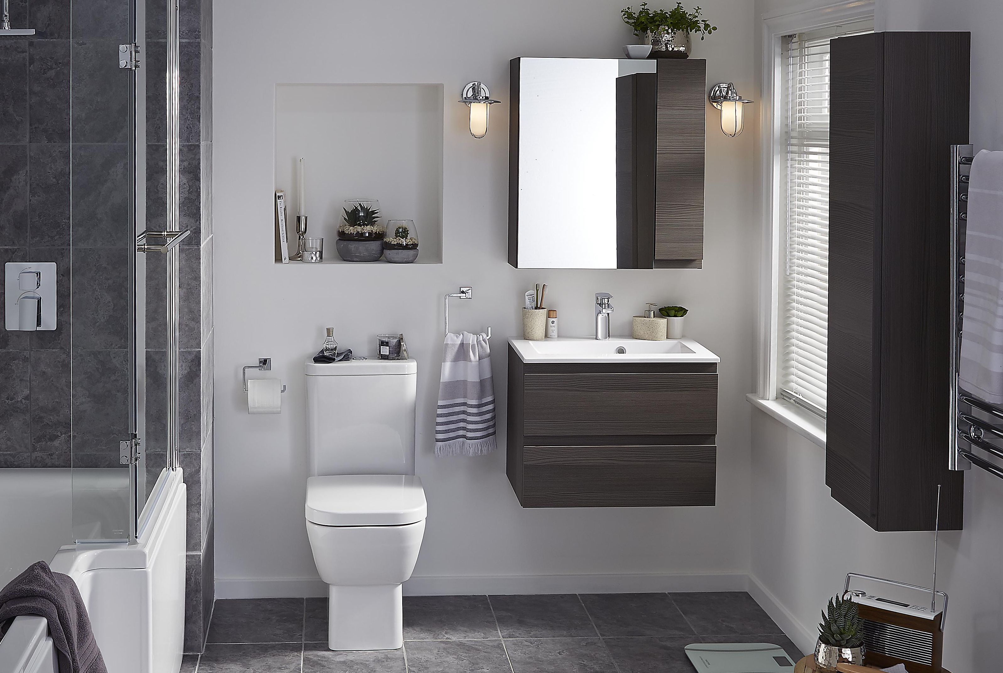 Bathroom Cabinets B Q santoro | bathroom suites | bathroom | departments | diy at b&q
