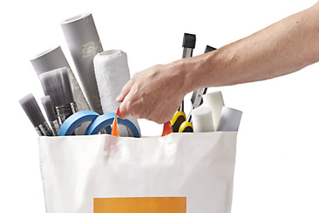 Carrier bag of products from B&Q