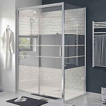 Belyoa mirrored glass shower enclosure