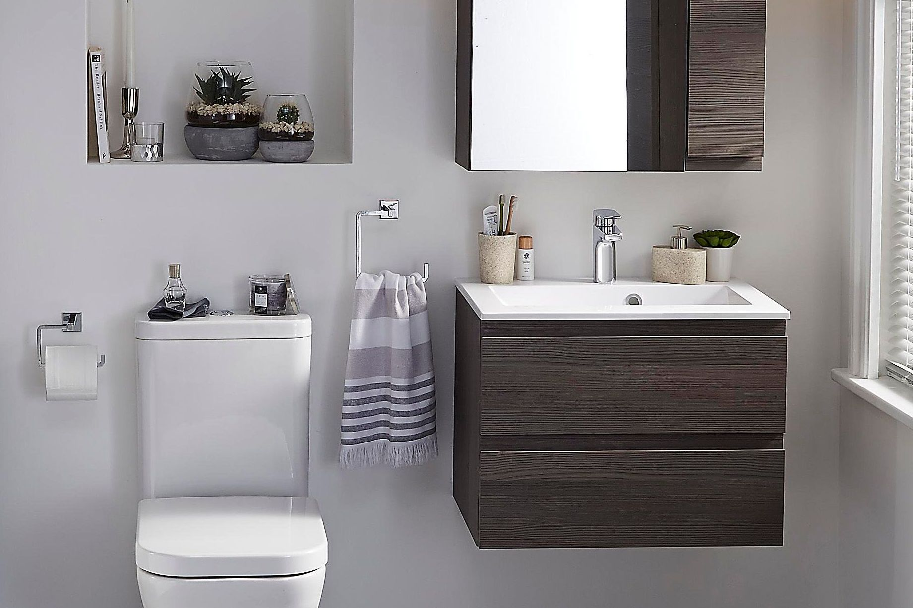 Small bathroom ideas | Ideas & Advice | DIY at B&Q