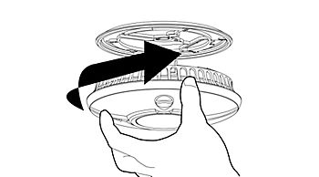 Smoke alarm installation diagram