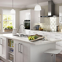 IT Kitchens Stonefield White Classic Style Standard door (W)600mm