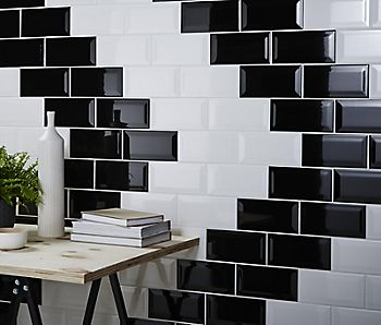 Brick bond tiling design with Trentie tiles