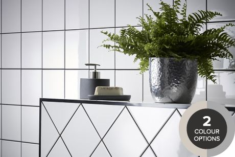 b q bathroom tiles tiling ranges coloured black amp white tiles diy at b amp q 15450
