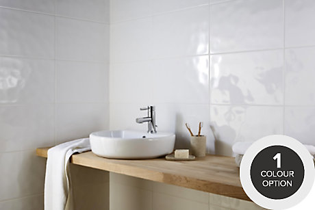 Hampton Ripple Gently Textured White Tiles