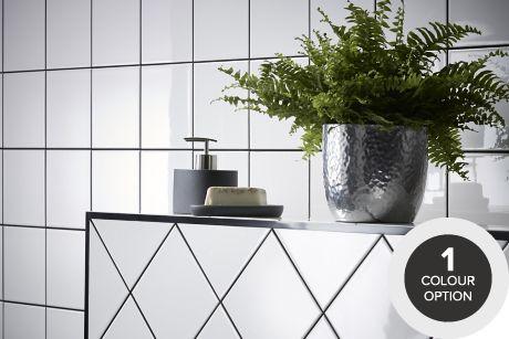 Ordinaire Tiling Ranges Coloured Black White Tiles Diy At B Q