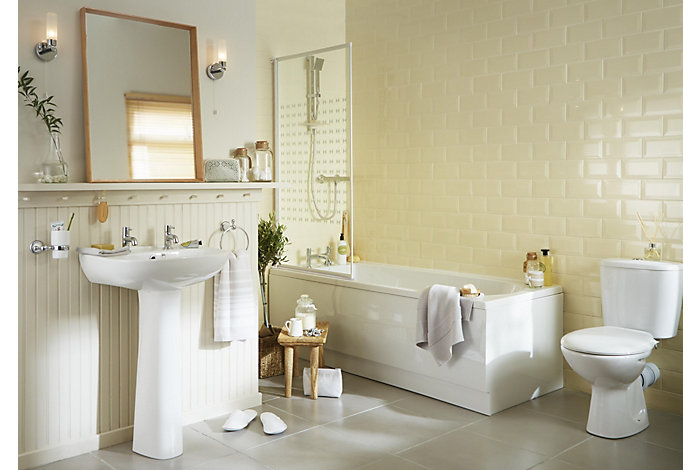 For more information on the bathroom suites featured for Cheap bathroom suites