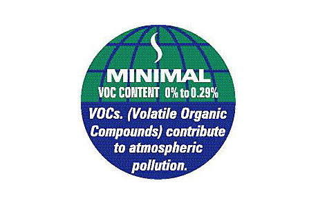 Volatile Organic Compounds in paint label