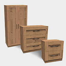Darwin Oak Effect 3 Piece Furniture Set