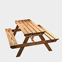 Agad Wooden 6 Seater Picnic Table
