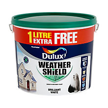 Dulux weathershield 10L white or magnolia