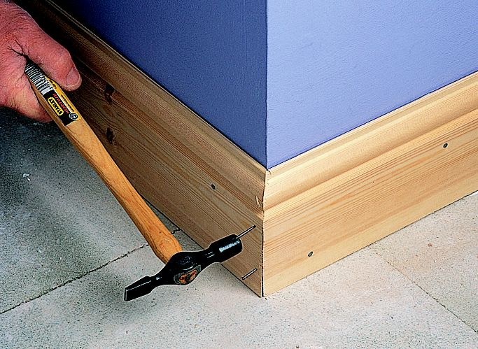 how to fit skirting board ideas advice diy at b q rh diy com fitting laminate under skirting boards Cement Board Skirting Panels