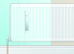Wallpapering behind radiator option 1 diagram