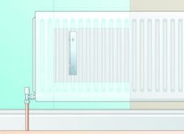Wallpapering behind radiator option 2 diagram